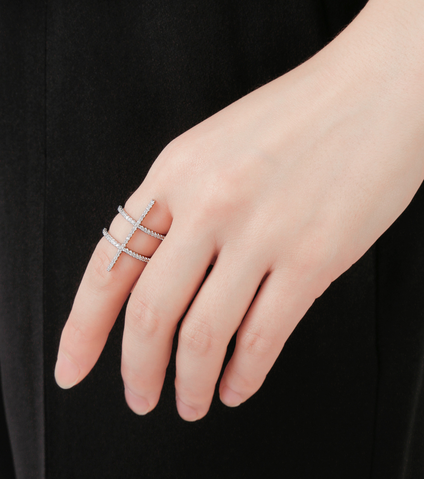 Fallon(ファロン)のPave Ladder Ring-SILVER(リング/ring)-FR21550-1 拡大詳細画像5