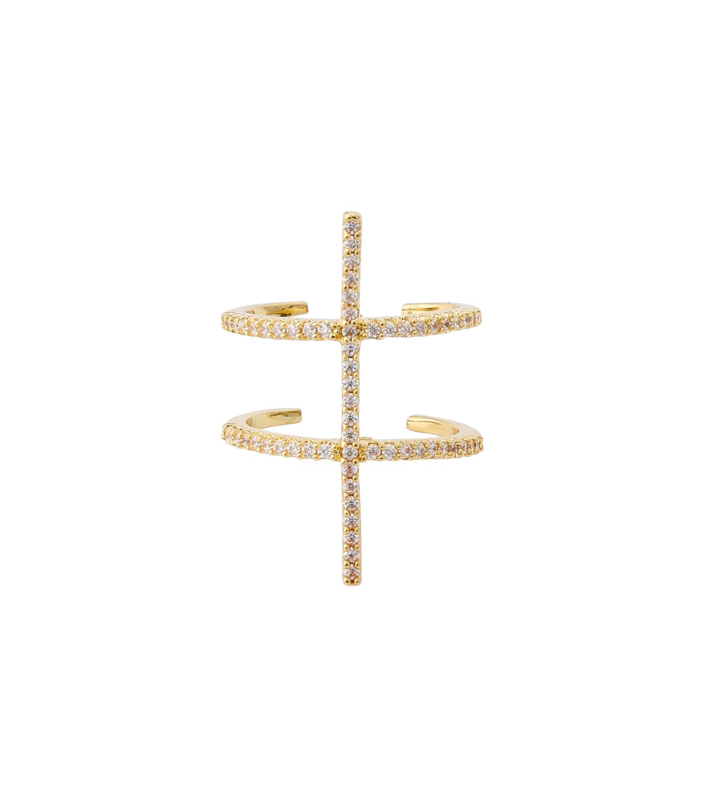 Fallon(ファロン)のPave Ladder Ring-GOLD(リング/ring)-FR21550-2 拡大詳細画像1