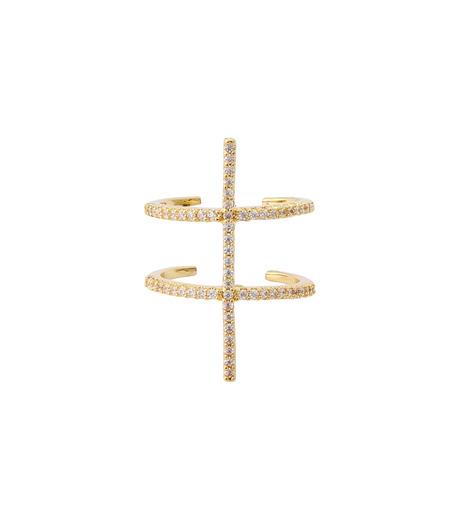 Fallon(ファロン)のPave Ladder Ring-GOLD(リング/ring)-FR21550-2 詳細画像1