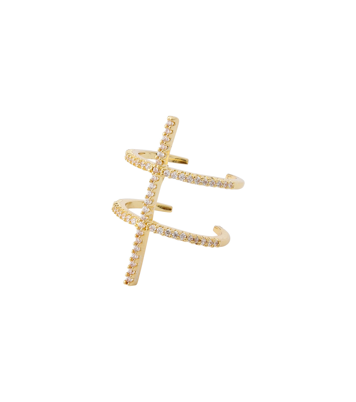 Fallon(ファロン)のPave Ladder Ring-GOLD(リング/ring)-FR21550-2 拡大詳細画像2