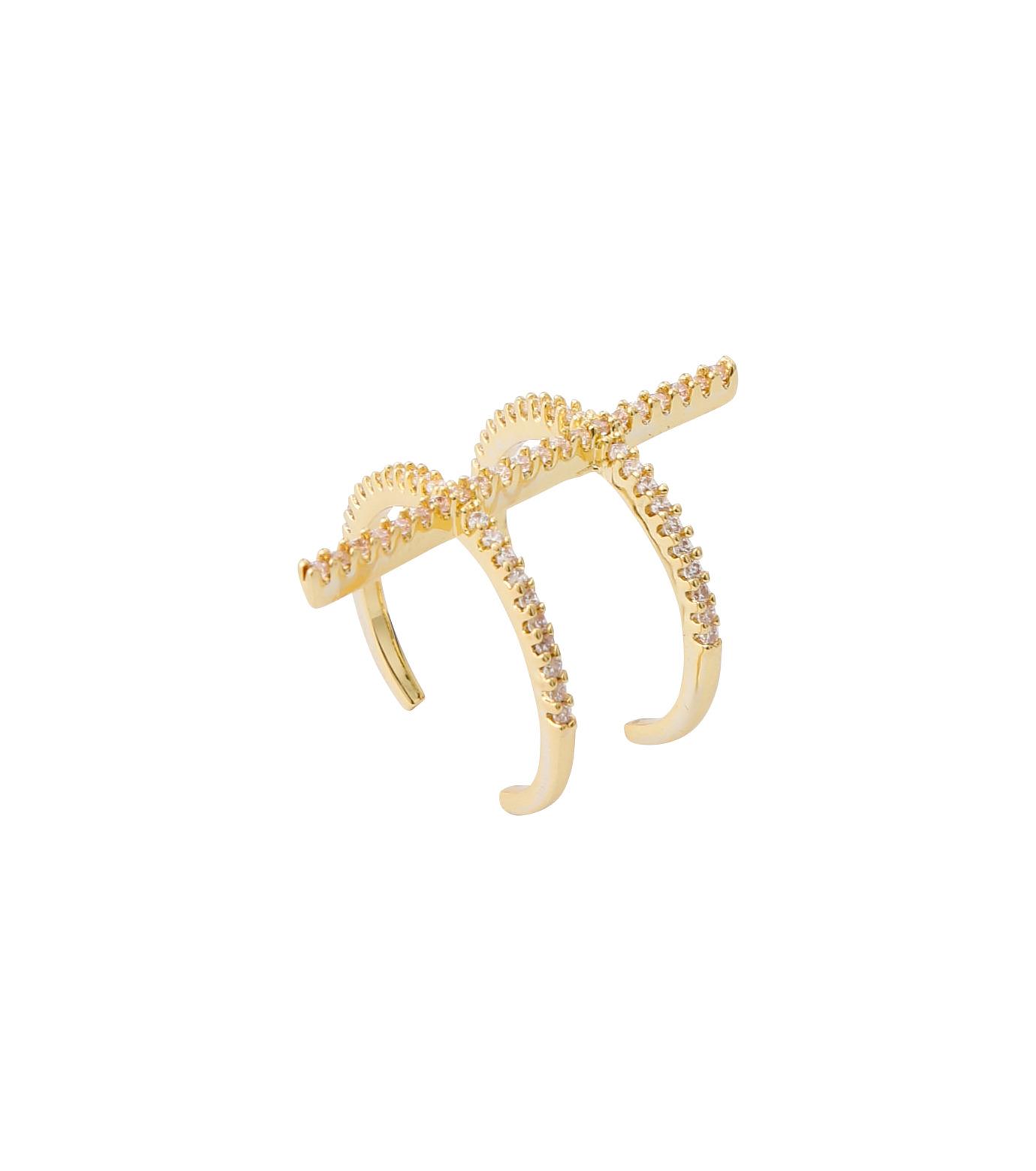 Fallon(ファロン)のPave Ladder Ring-GOLD(リング/ring)-FR21550-2 拡大詳細画像3
