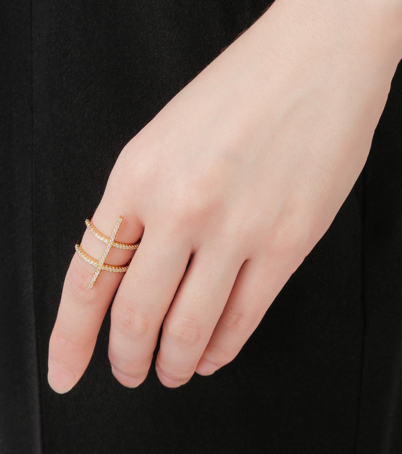 Fallon(ファロン)のPave Ladder Ring-GOLD(リング/ring)-FR21550-2 拡大詳細画像5