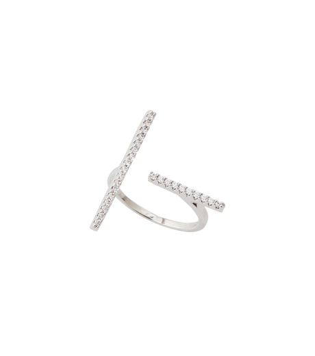 Fallon(ファロン)のPave Tbar Ring-SILVER(リング/ring)-FR21551-1 詳細画像2
