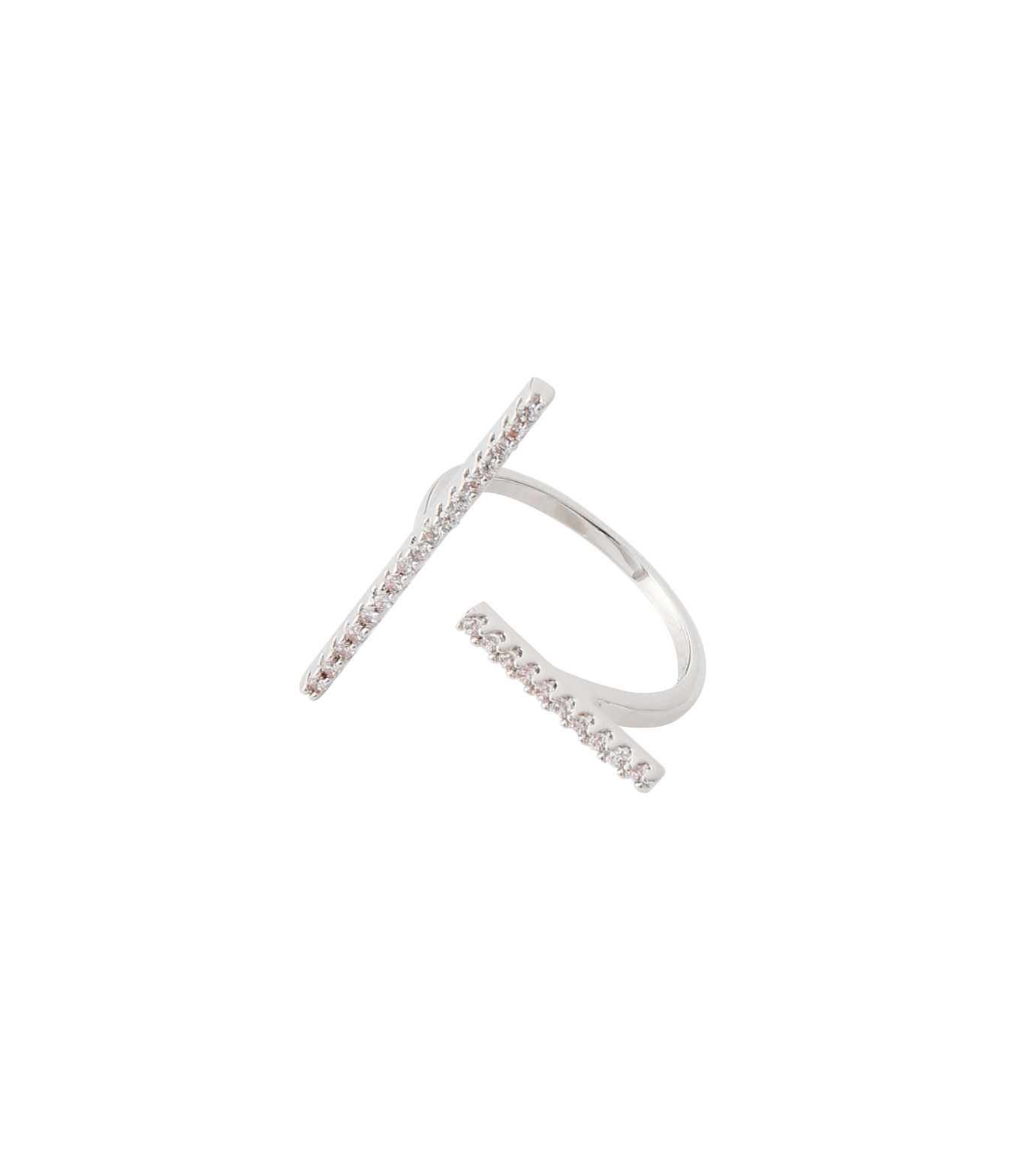 Fallon(ファロン)のPave Tbar Ring-SILVER(リング/ring)-FR21551-1 拡大詳細画像3