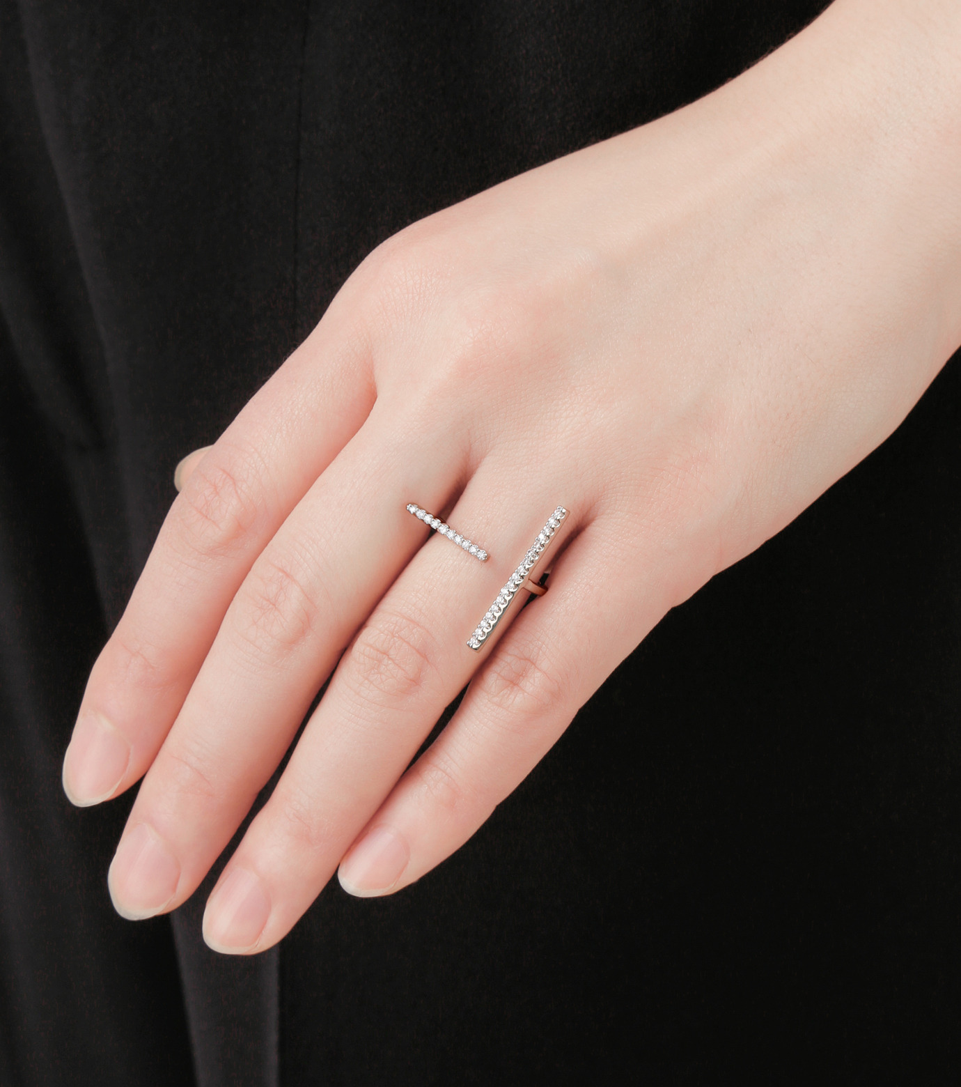 Fallon(ファロン)のPave Tbar Ring-SILVER(リング/ring)-FR21551-1 拡大詳細画像5