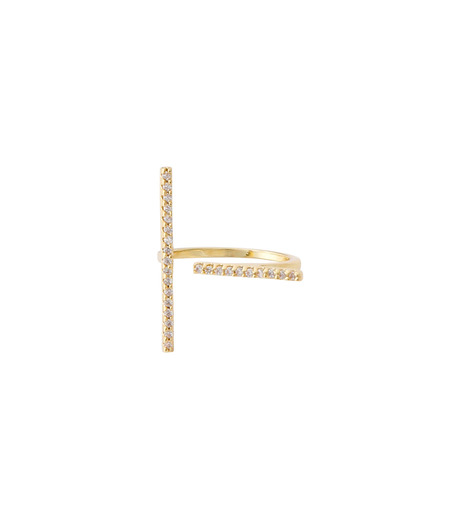 Fallon(ファロン)のPave Tbar Ring-GOLD(リング/ring)-FR21551-2 詳細画像1