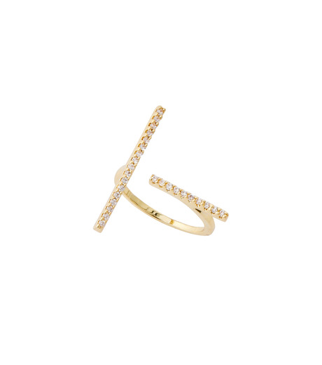 Fallon(ファロン)のPave Tbar Ring-GOLD(リング/ring)-FR21551-2 詳細画像2