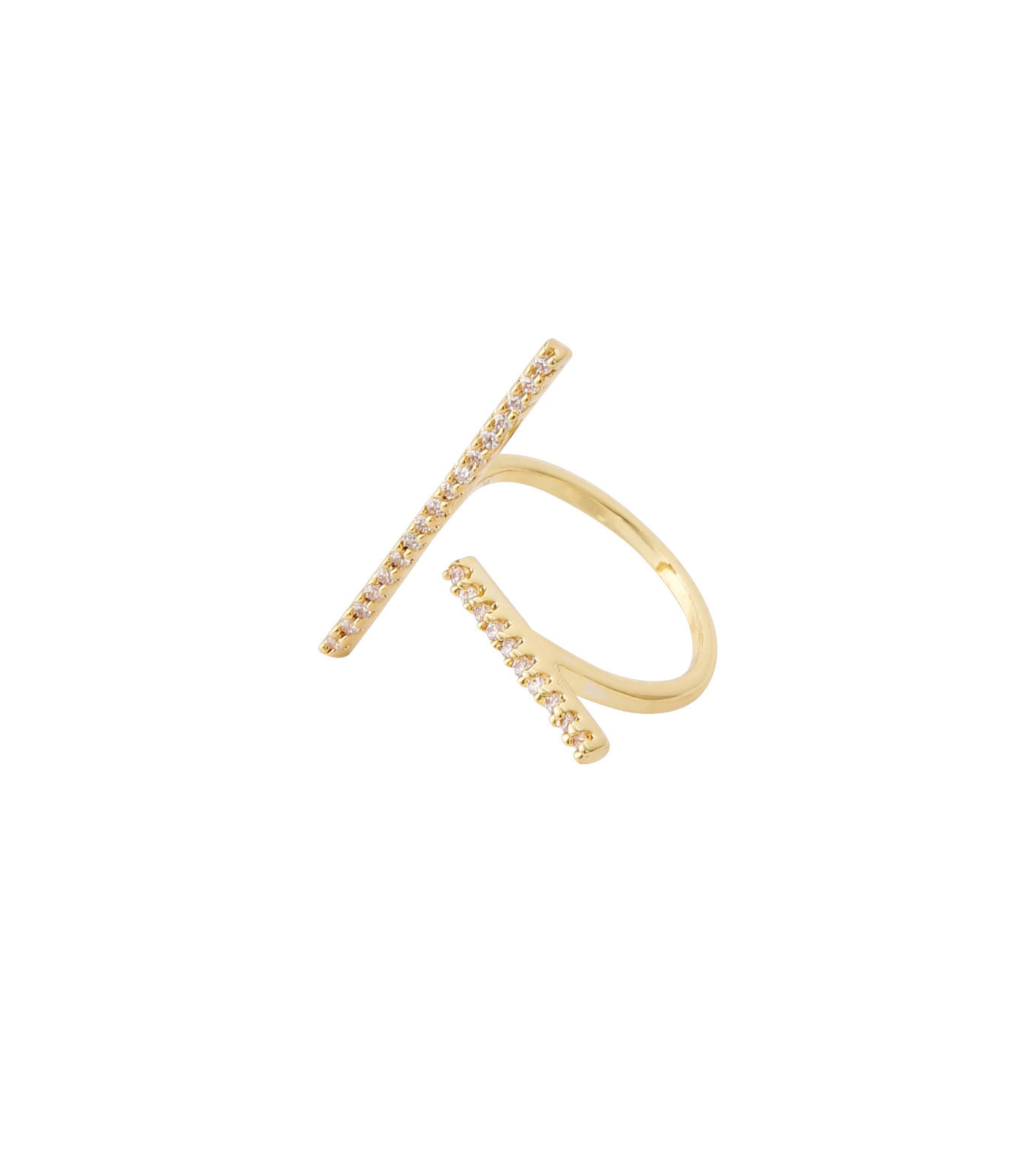 Fallon(ファロン)のPave Tbar Ring-GOLD(リング/ring)-FR21551-2 拡大詳細画像3