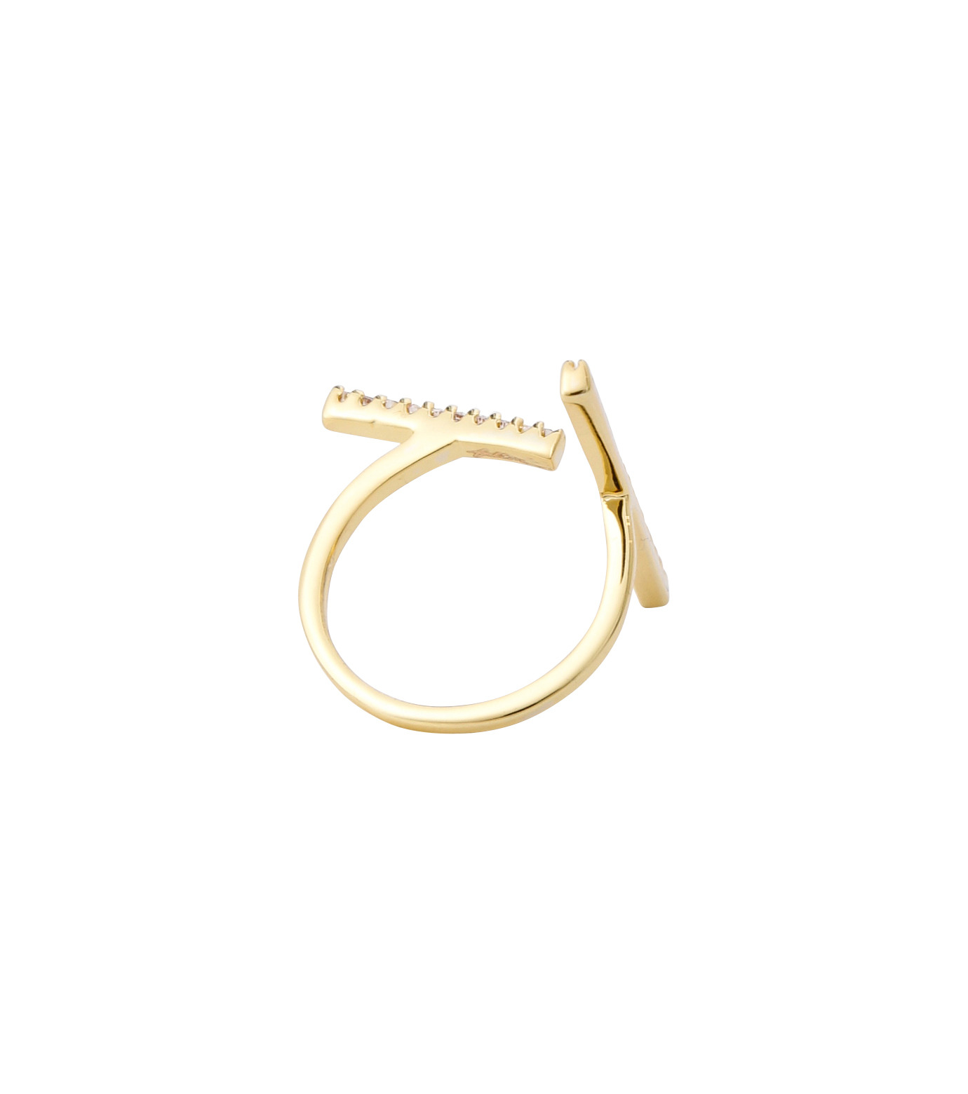 Fallon(ファロン)のPave Tbar Ring-GOLD(リング/ring)-FR21551-2 拡大詳細画像4