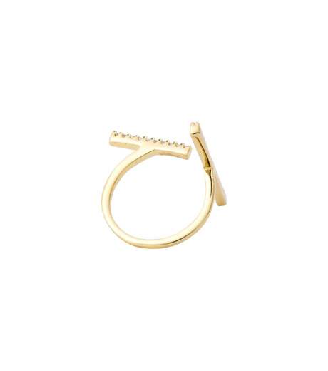 Fallon(ファロン)のPave Tbar Ring-GOLD(リング/ring)-FR21551-2 詳細画像4