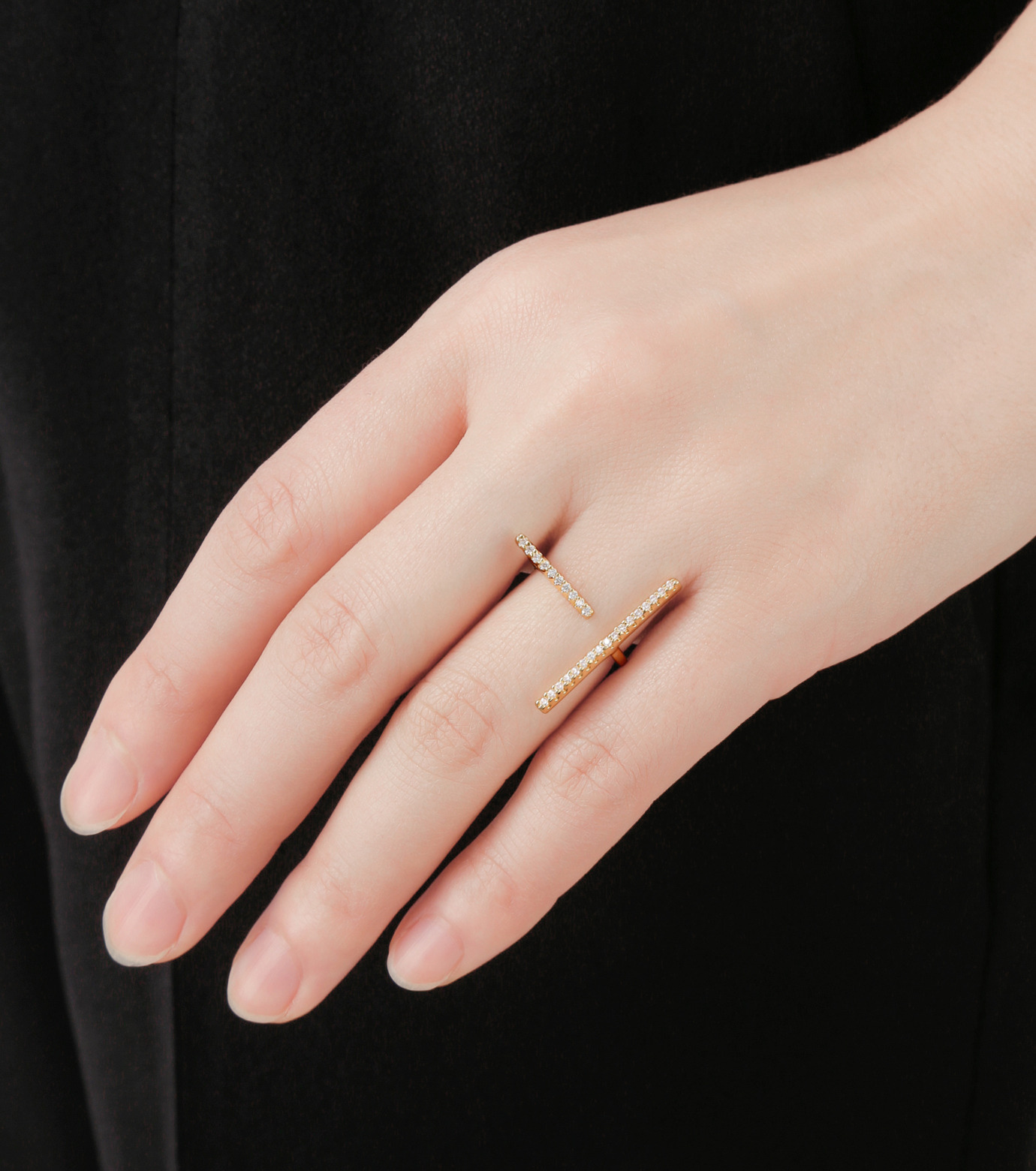 Fallon(ファロン)のPave Tbar Ring-GOLD(リング/ring)-FR21551-2 拡大詳細画像5