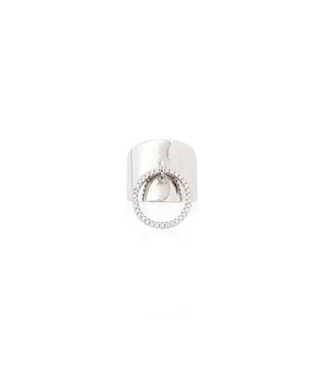 Fallon(ファロン)のArmure Pave Knocker Barrel Ring-SILVER(リング/ring)-FR21609-1 詳細画像1