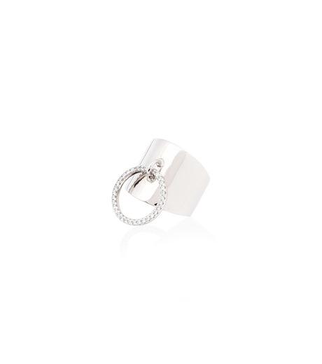 Fallon(ファロン)のArmure Pave Knocker Barrel Ring-SILVER(リング/ring)-FR21609-1 詳細画像2