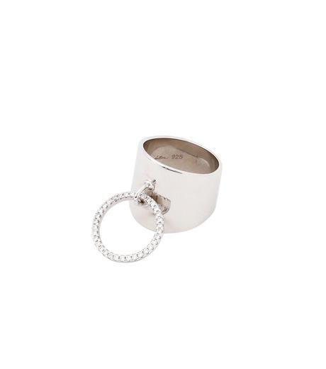 Fallon(ファロン)のArmure Pave Knocker Barrel Ring-SILVER(リング/ring)-FR21609-1 詳細画像3