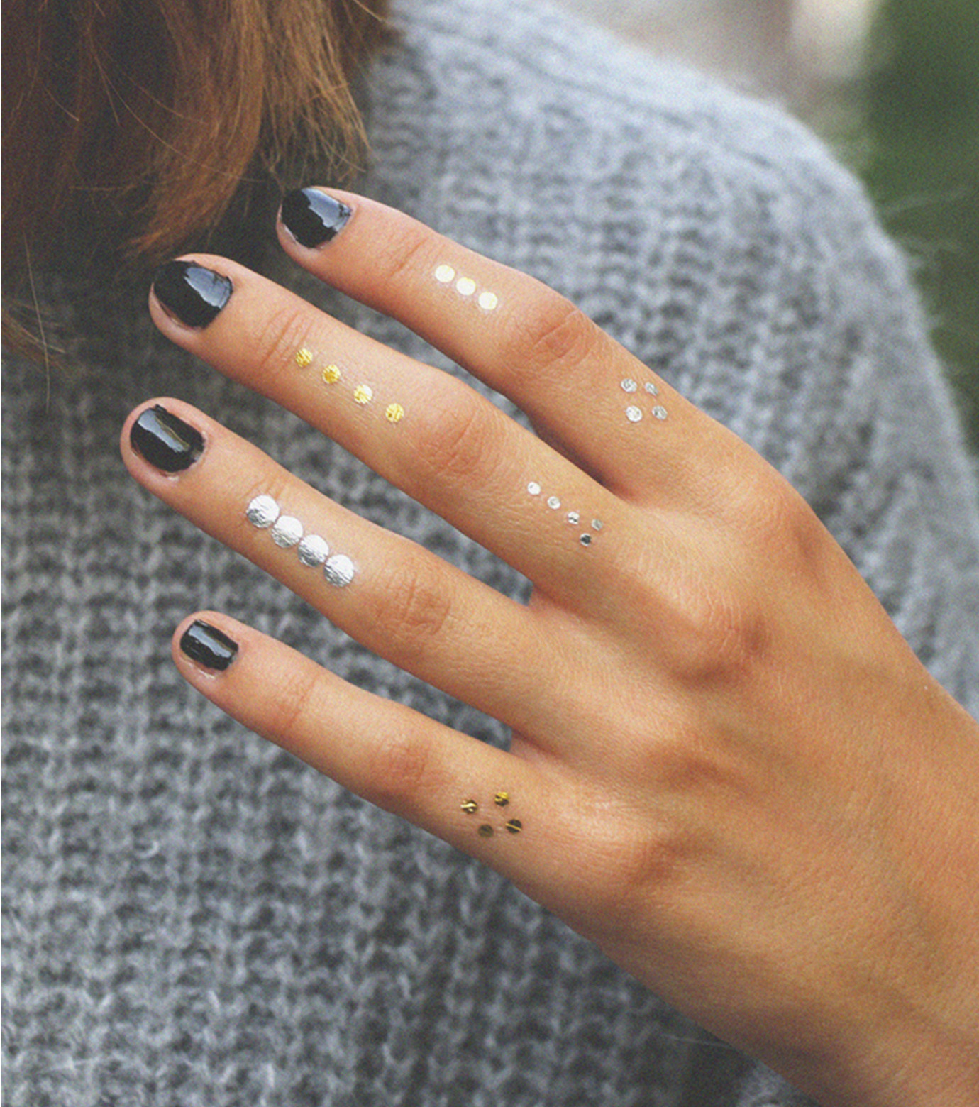 DCER(ディーシーイーアール)のGold + Silver Points Tattoo-BLACK(MAKE-UP/MAKE-UP)-FW14021-13 拡大詳細画像2