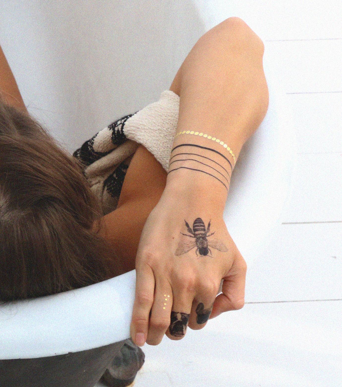 DCER(ディーシーイーアール)のLine Bracelet Tattoo-BLACK(MAKE-UP/MAKE-UP)-FW15007-13 拡大詳細画像3