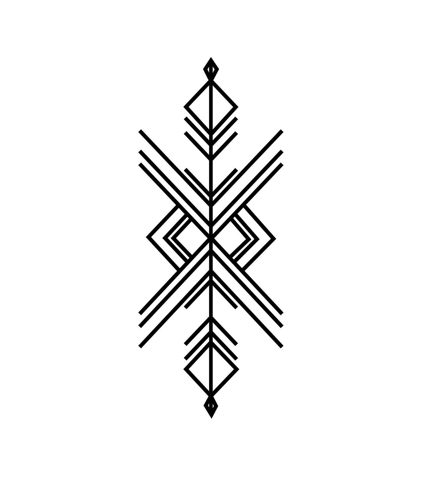 DCER(ディーシーイーアール)のIndie Geometric Tattoo-BLACK(MAKE-UP/MAKE-UP)-FW15013-13 拡大詳細画像1
