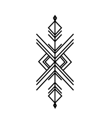 DCER(ディーシーイーアール)のIndie Geometric Tattoo-BLACK(MAKE-UP/MAKE-UP)-FW15013-13 詳細画像1
