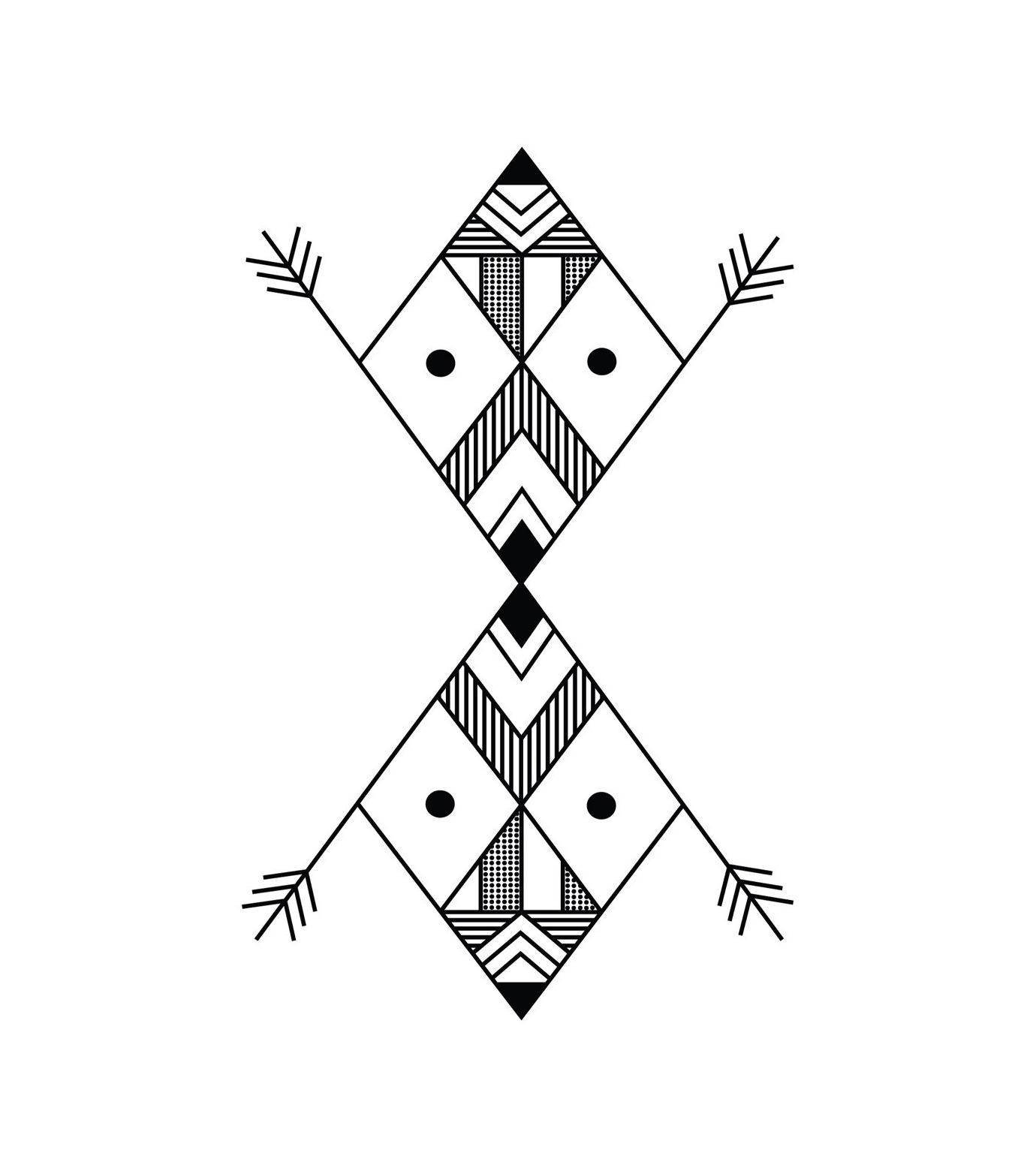 DCER(ディーシーイーアール)のGeometric Black Tattoo-BLACK(MAKE-UP/MAKE-UP)-FW15014-13 拡大詳細画像1