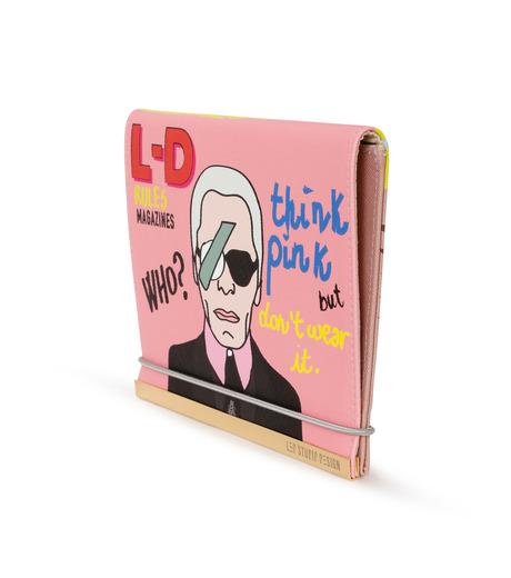 LEO(レオ)のMini Flap Bag Karl-PINK(クラッチバッグ/clutch bag)-FW16-009-72 詳細画像3