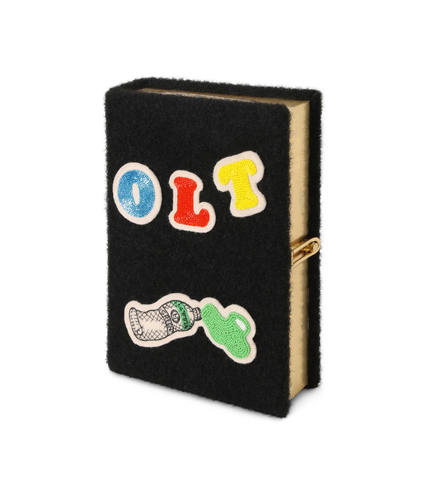 Olympia Le-Tan(オリンピア ルタン)のBook Clutch Velcro-BLACK(クラッチバッグ/clutch bag)-FW16BBC024-13 拡大詳細画像2