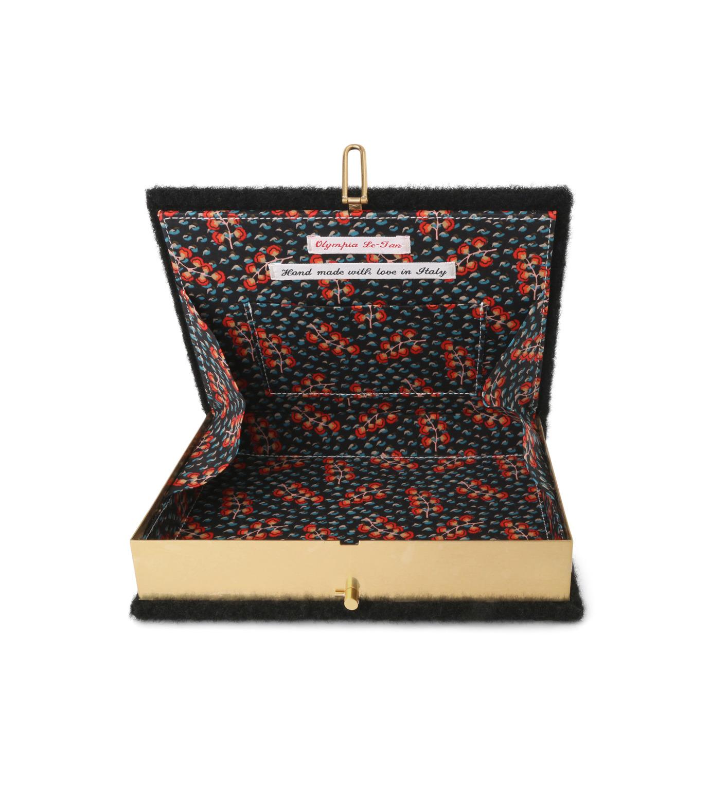 Olympia Le-Tan(オリンピア ルタン)のBook Clutch Velcro-BLACK(クラッチバッグ/clutch bag)-FW16BBC024-13 拡大詳細画像4