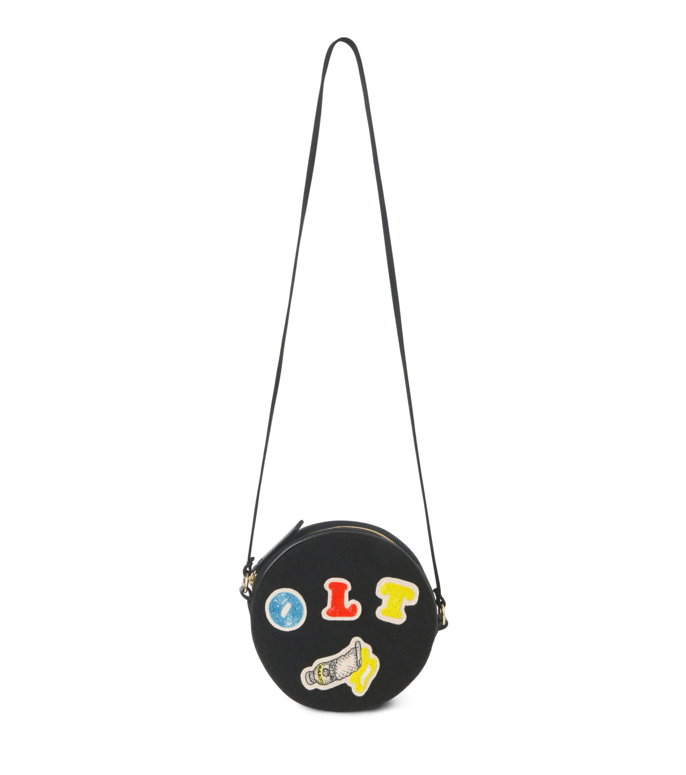Olympia Le-Tan(オリンピア ルタン)のBlack Velcro Dizzie Bag-BLACK(ショルダーバッグ/shoulder bag)-FW16BDI008-13 拡大詳細画像1