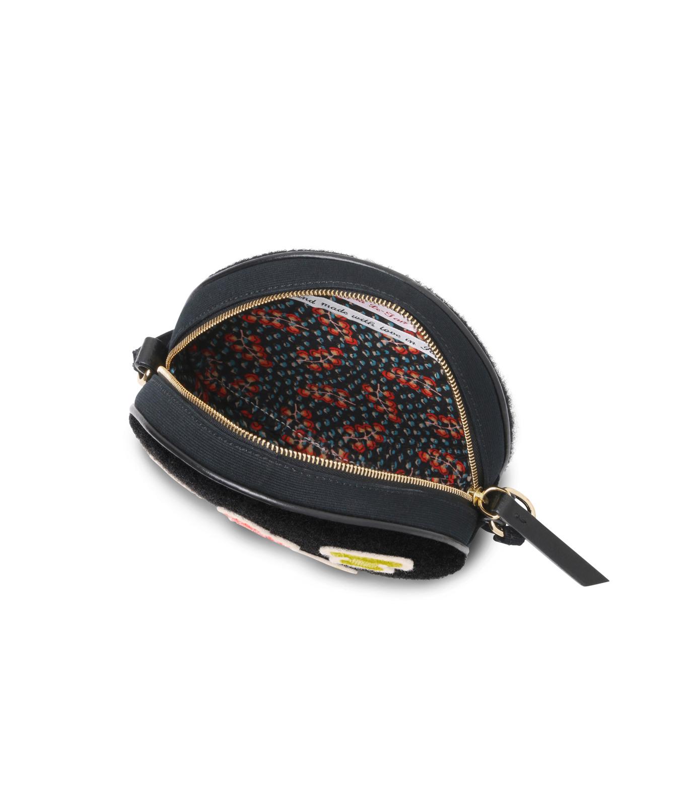 Olympia Le-Tan(オリンピア ルタン)のBlack Velcro Dizzie Bag-BLACK(ショルダーバッグ/shoulder bag)-FW16BDI008-13 拡大詳細画像4