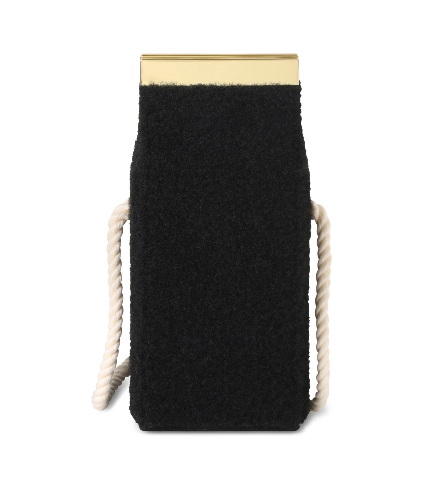 Olympia Le-Tan(オリンピア ルタン)のVelcro Milk Box-BLACK(ショルダーバッグ/shoulder bag)-FW16BMB300-13 拡大詳細画像3