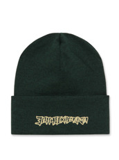 Gosha Rubchinskiy Cotton Knit Hat Gold Embroidery