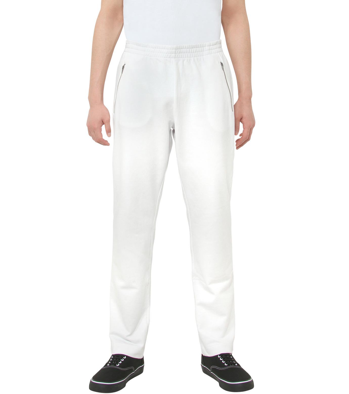 Gosha Rubchinskiy(ゴーシャ・ラブチンスキー)のCOTTON SWEATPANT ZIP DETAIL-WHITE(パンツ/pants)-G008P007-4 拡大詳細画像1