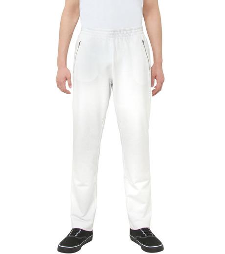 Gosha Rubchinskiy(ゴーシャ・ラブチンスキー)のCOTTON SWEATPANT ZIP DETAIL-WHITE(パンツ/pants)-G008P007-4 詳細画像1