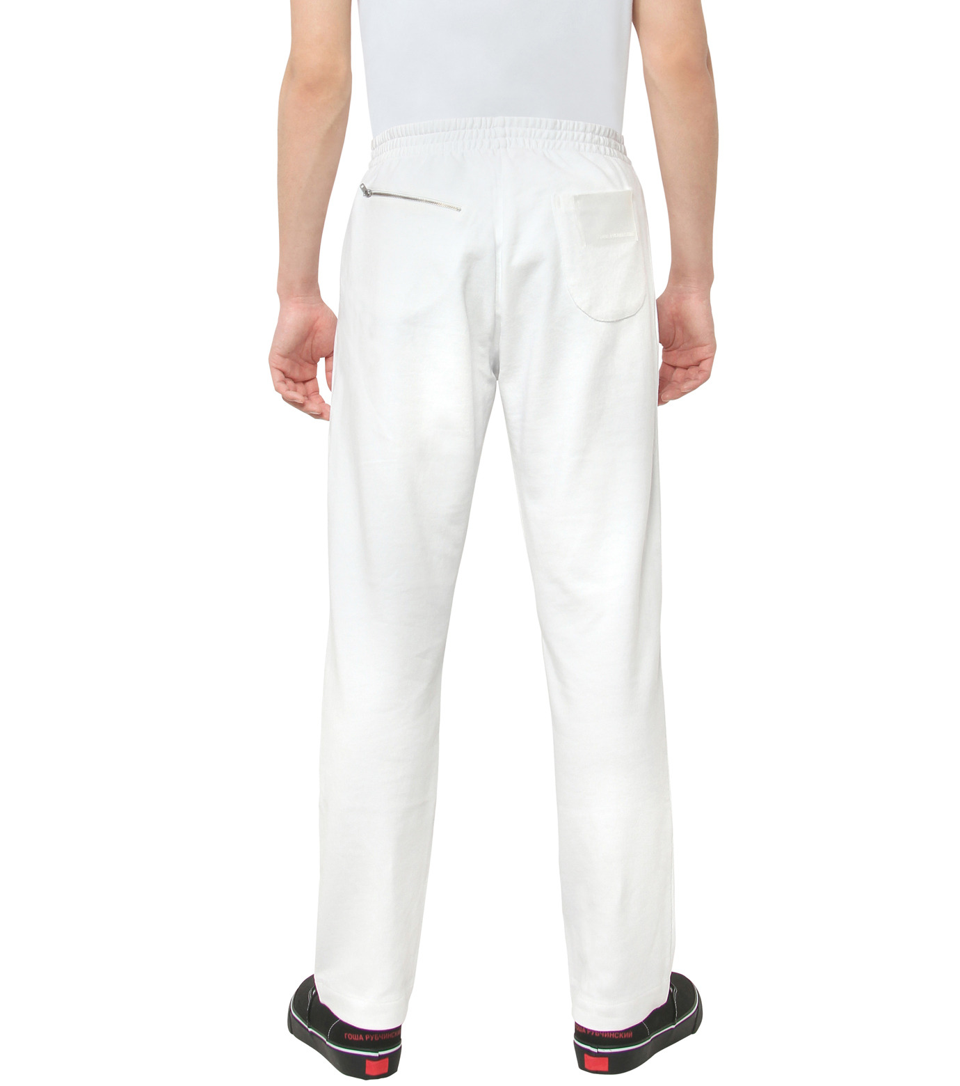 Gosha Rubchinskiy(ゴーシャ・ラブチンスキー)のCOTTON SWEATPANT ZIP DETAIL-WHITE(パンツ/pants)-G008P007-4 拡大詳細画像2
