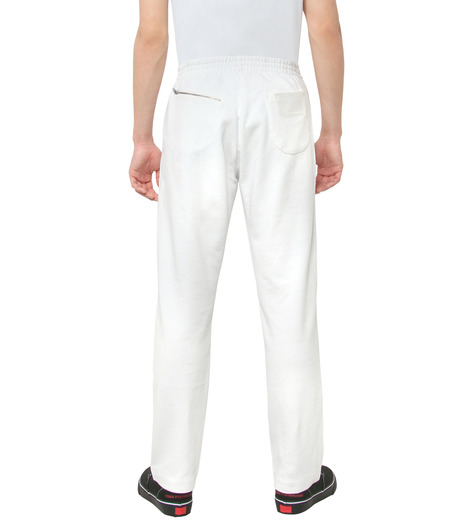 Gosha Rubchinskiy(ゴーシャ・ラブチンスキー)のCOTTON SWEATPANT ZIP DETAIL-WHITE(パンツ/pants)-G008P007-4 詳細画像2