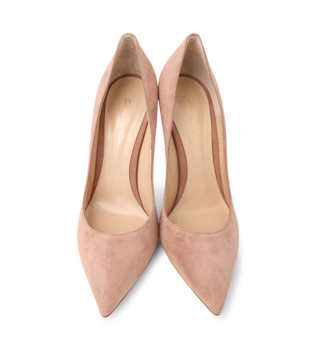 Gianvito Rossi(ジャンヴィト ロッシ)のSuede Pump-LIGHT BEIGE(パンプス/pumps)-G28470-51 詳細画像4
