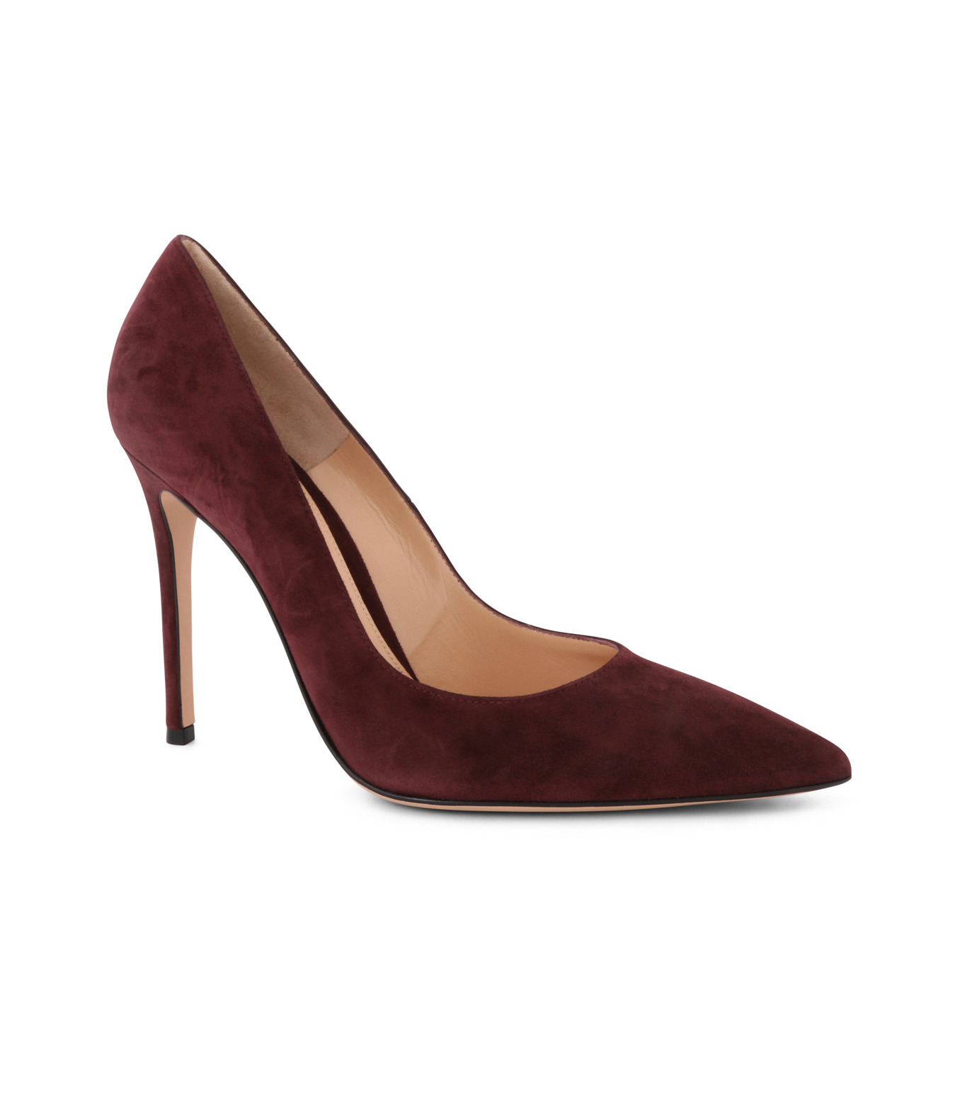 Gianvito Rossi(ジャンヴィト ロッシ)のSuede Pump-BORDEAUX(パンプス/pumps)-G28470-63 拡大詳細画像1