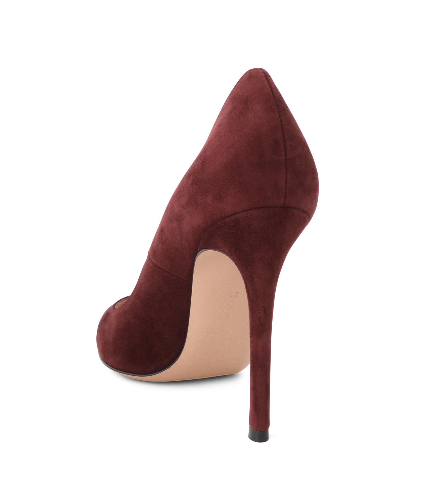 Gianvito Rossi(ジャンヴィト ロッシ)のSuede Pump-BORDEAUX(パンプス/pumps)-G28470-63 拡大詳細画像2