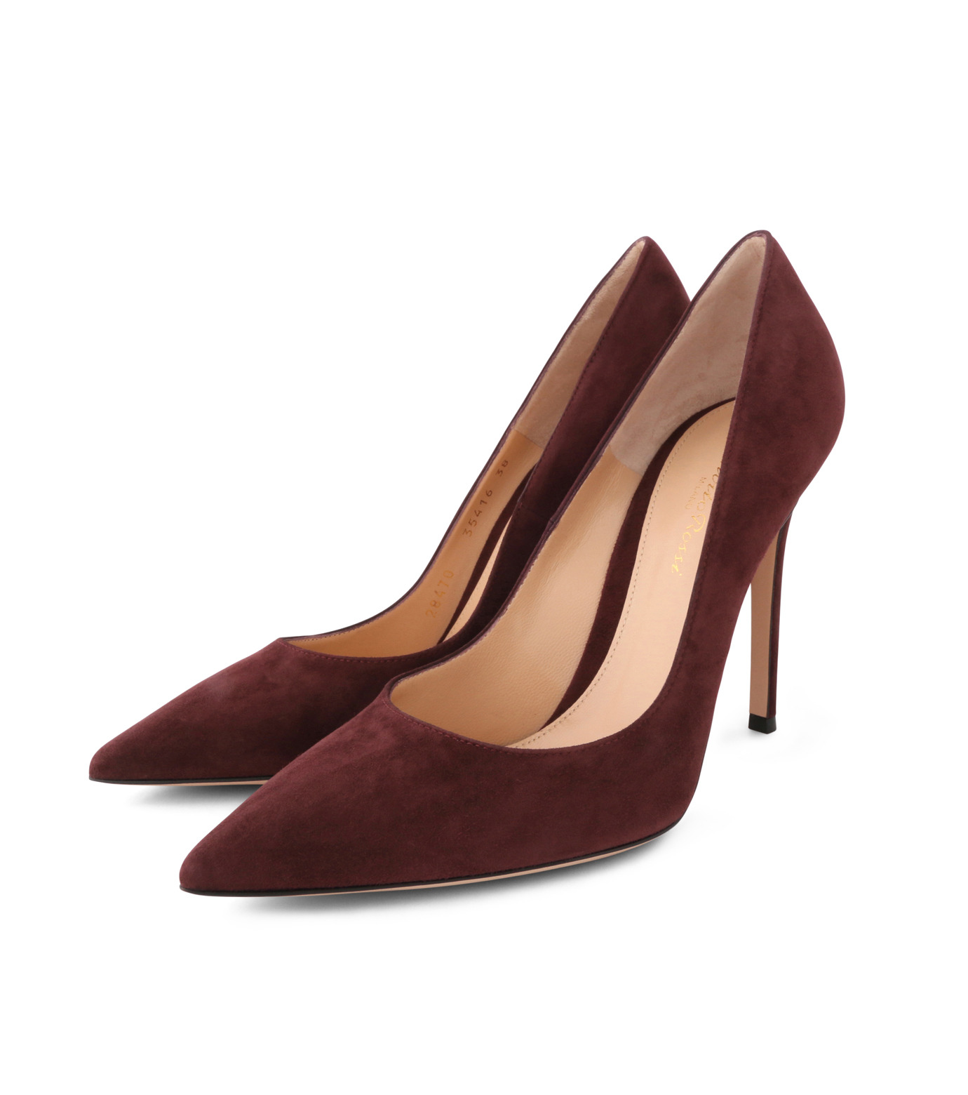 Gianvito Rossi(ジャンヴィト ロッシ)のSuede Pump-BORDEAUX(パンプス/pumps)-G28470-63 拡大詳細画像3