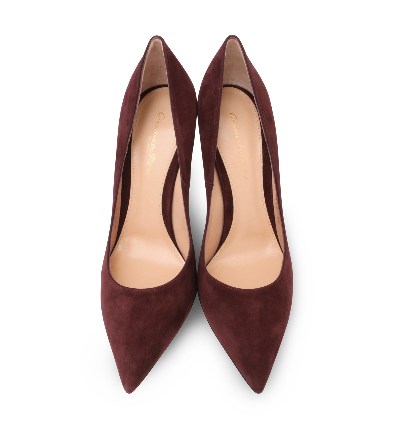 Gianvito Rossi(ジャンヴィト ロッシ)のSuede Pump-BORDEAUX(パンプス/pumps)-G28470-63 拡大詳細画像4