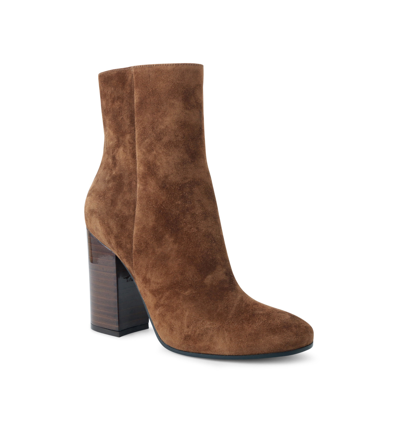 Gianvito Rossi(ジャンヴィト ロッシ)のSuede Short Boots Stucked Heel-CAMEL(ブーツ/boots)-G70546-53 拡大詳細画像1