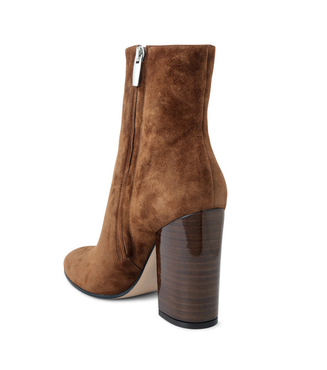 Gianvito Rossi(ジャンヴィト ロッシ)のSuede Short Boots Stucked Heel-CAMEL(ブーツ/boots)-G70546-53 詳細画像2