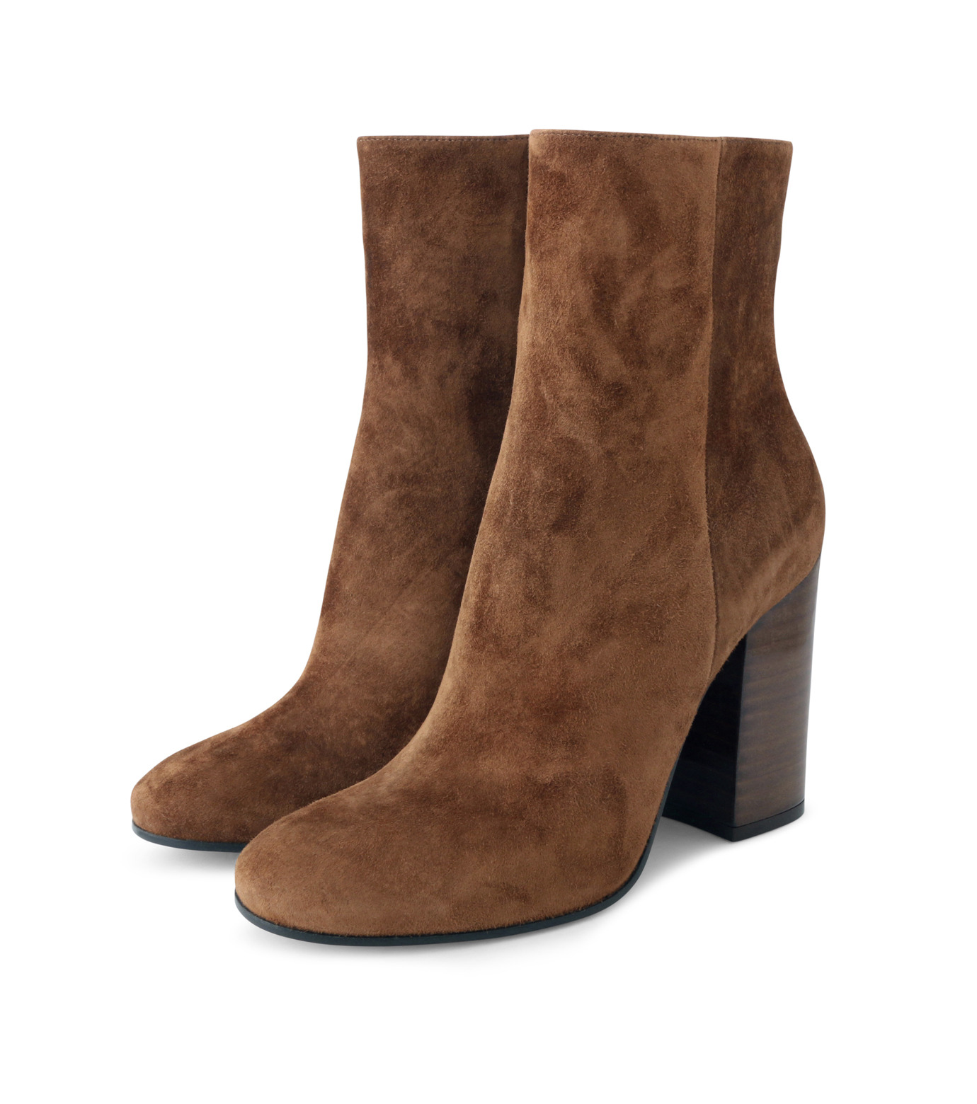 Gianvito Rossi(ジャンヴィト ロッシ)のSuede Short Boots Stucked Heel-CAMEL(ブーツ/boots)-G70546-53 拡大詳細画像3