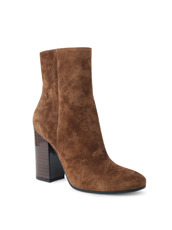 Gianvito Rossi Suede Short Boots Stucked Heel