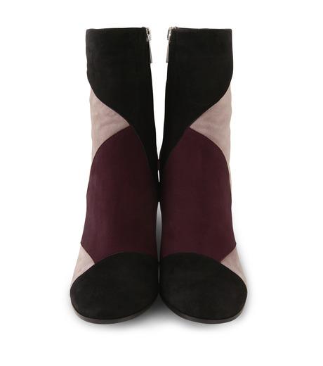 Gianvito Rossi(ジャンヴィト ロッシ)のPatchwork Bootie-BORDEAUX(ブーツ/boots)-G70625-63 詳細画像4