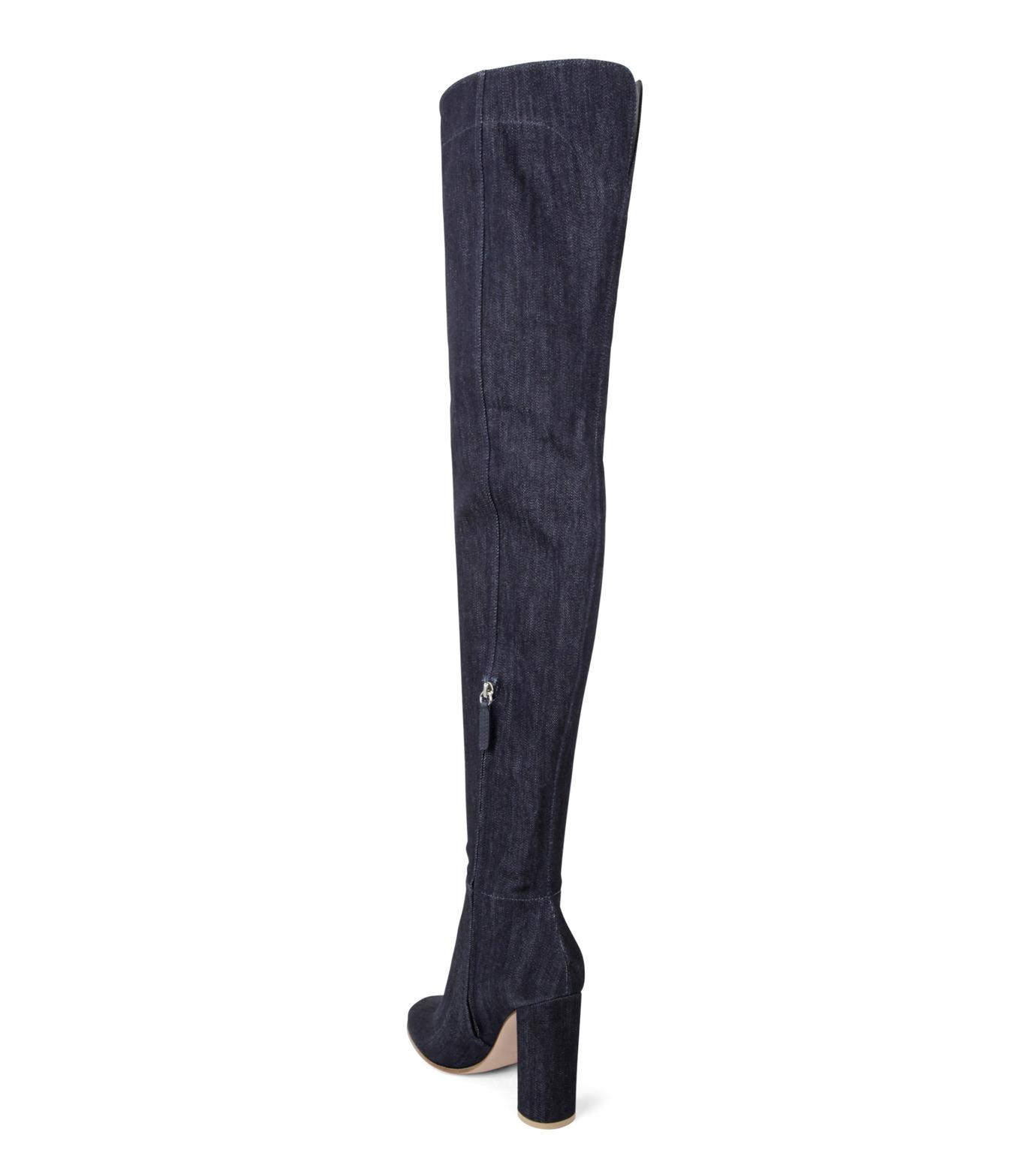 Gianvito Rossi(ジャンヴィト ロッシ)のDenim Over the Knee Boots-INDIGO(ブーツ/boots)-G80806-94 拡大詳細画像2