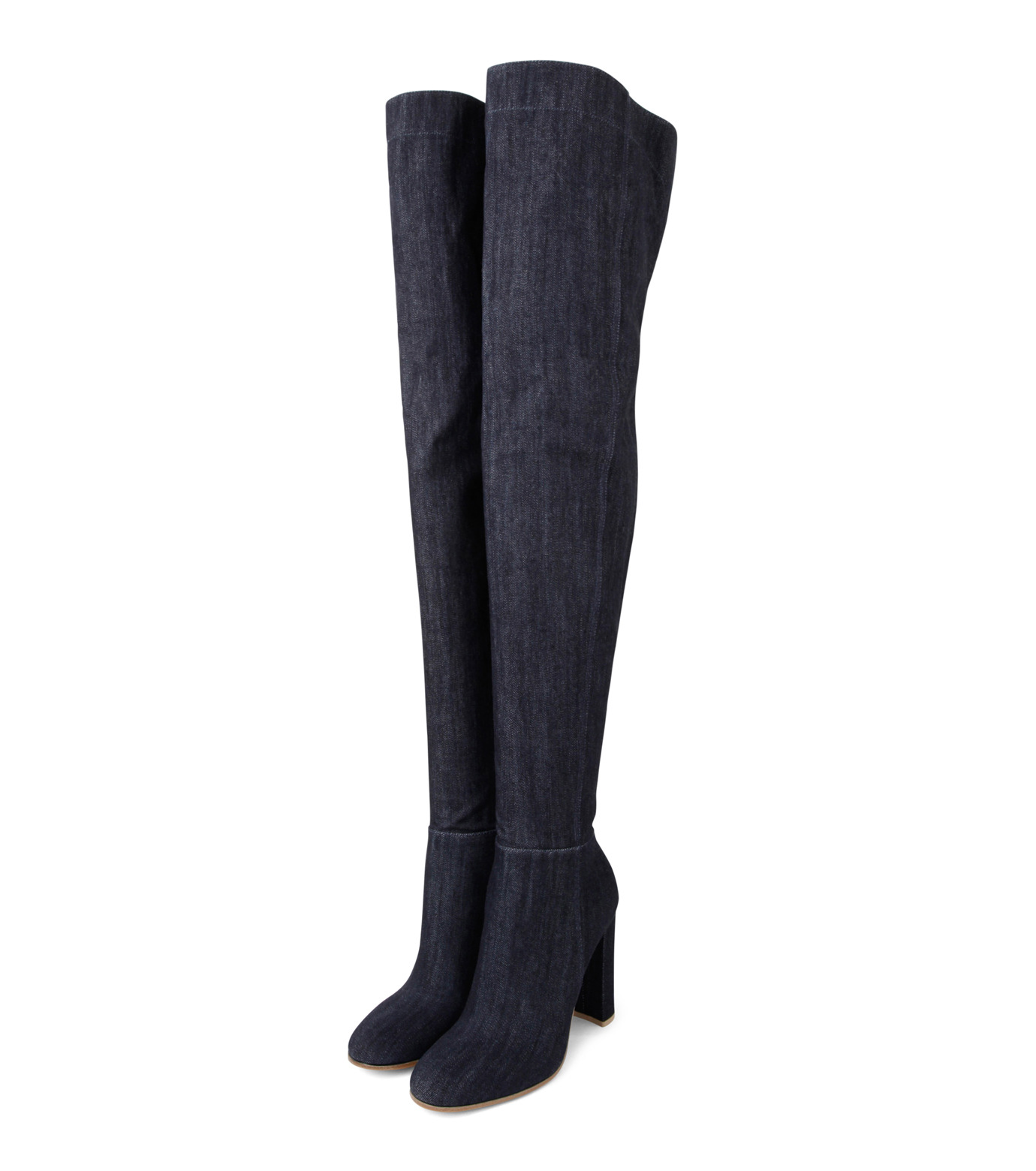 Gianvito Rossi(ジャンヴィト ロッシ)のDenim Over the Knee Boots-INDIGO(ブーツ/boots)-G80806-94 拡大詳細画像3