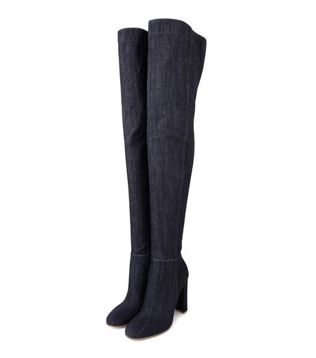 Gianvito Rossi(ジャンヴィト ロッシ)のDenim Over the Knee Boots-INDIGO(ブーツ/boots)-G80806-94 詳細画像3