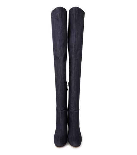 Gianvito Rossi(ジャンヴィト ロッシ)のDenim Over the Knee Boots-INDIGO(ブーツ/boots)-G80806-94 詳細画像4