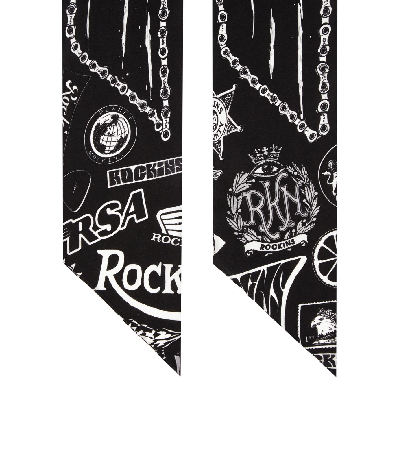 Rockins(ロッキンス)のGreb o Chic Super Skinny-BLACK(ストール/stole)-GCSS-BK-13 拡大詳細画像2