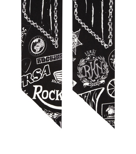 Rockins(ロッキンス)のGreb o Chic Super Skinny-BLACK(ストール/stole)-GCSS-BK-13 詳細画像2